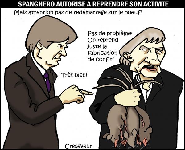 Spanghero autorisé à repartir .JPG