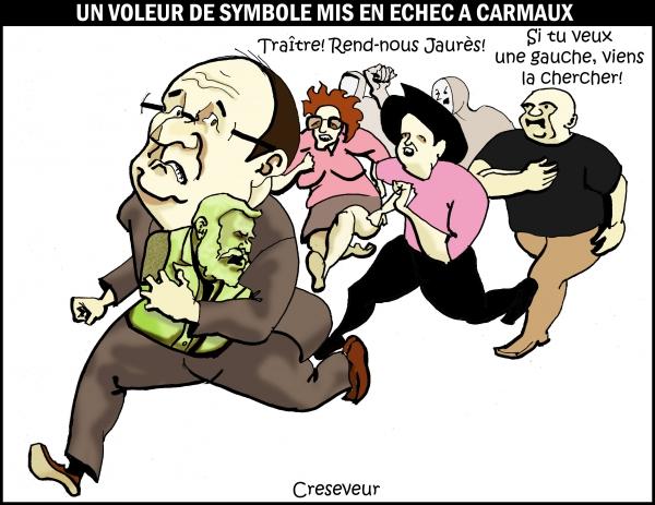 jean jaurès,carmaux,socialisme,ps,françois hollande,dessin presse,caricature