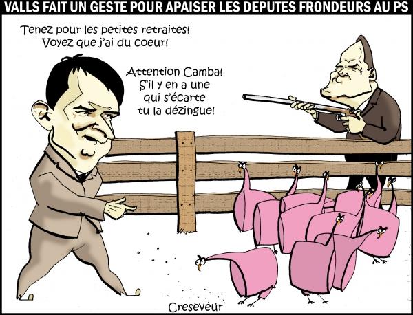 Valls concède sur les petites retraites.JPG