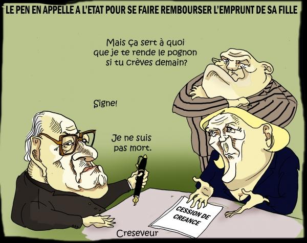 Le Pen contraint sa fille à le rembourser.jpg