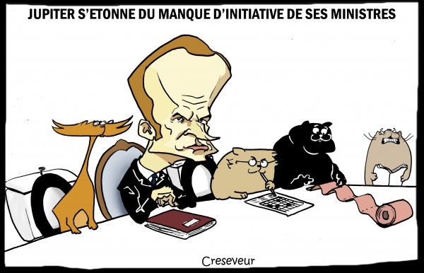 Macron et le pipi de chat des ministres.JPG