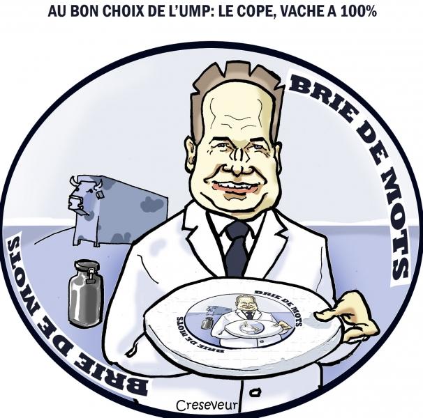 jean françois copé,françois fillon,ump,présidence,primaires,fromage,brie de meaux,bris de mots,dessin de presse