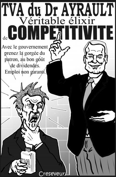 ayrault,compétitivité,hollande,medev,patronnat,tva,csg,dessin de presse