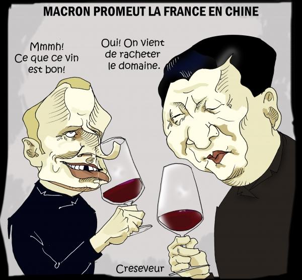 Macron veut pousser les exportations en Chine.JPG