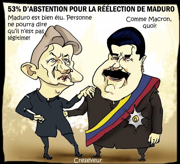 Maduro réélu malgré un scrutin déserté et contestable.JPG