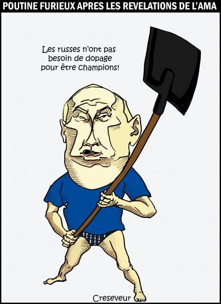 Pas de dopage pour Poutine.JPG