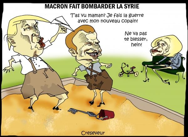 Macron se lance dans la bataille en Syrie.jpg