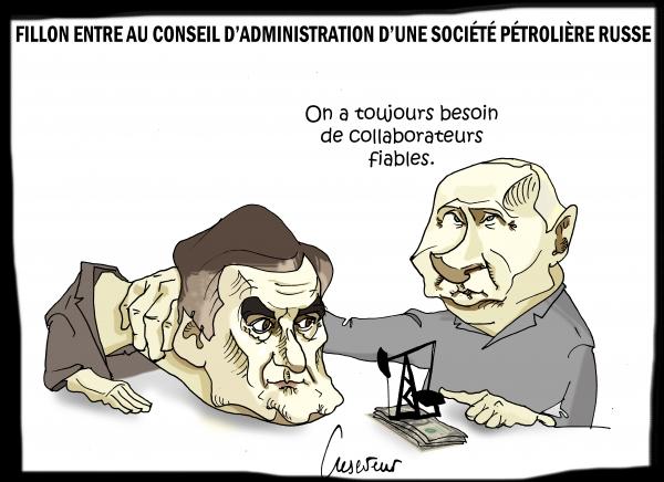 Fillon embauché par Poutine.JPG