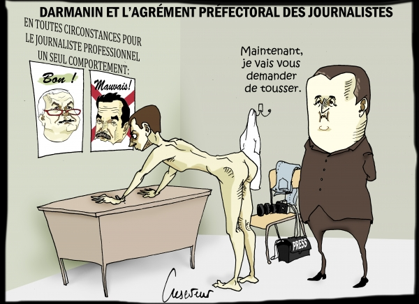 Darmanin agrée les journalistes.JPG