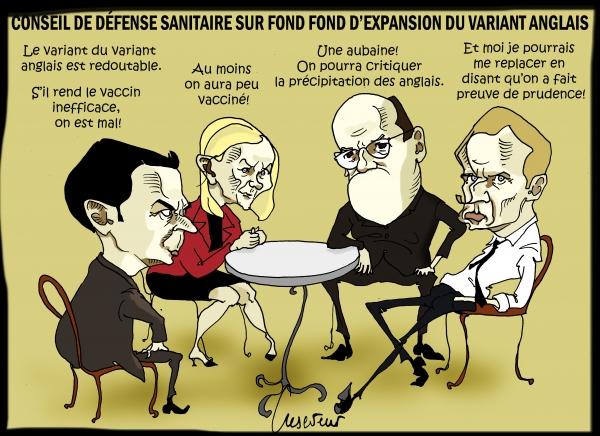 Macron et le conseil de défense sanitaire.JPG