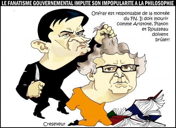 Valls condamne Onfray.JPG
