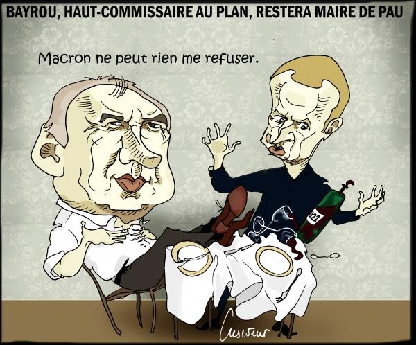 Bayrou haut commissaire retera aussi maire de Pau.JPG