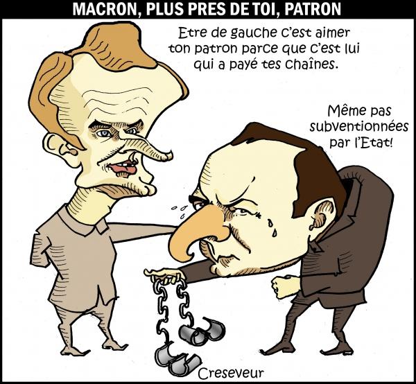 Macron chez les patrons.JPG