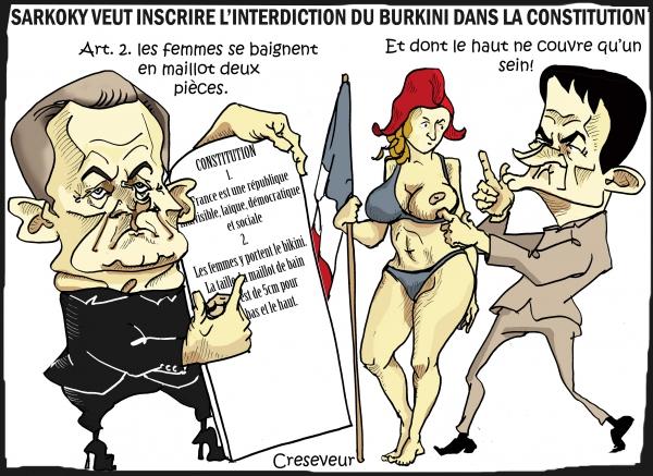 Sarkozy veut l'interdiction du Burkini dans la constitution.JPG