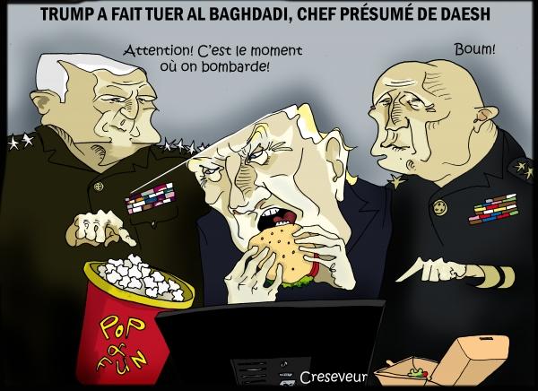 Trump a eu la peau de Baghdadi.JPG