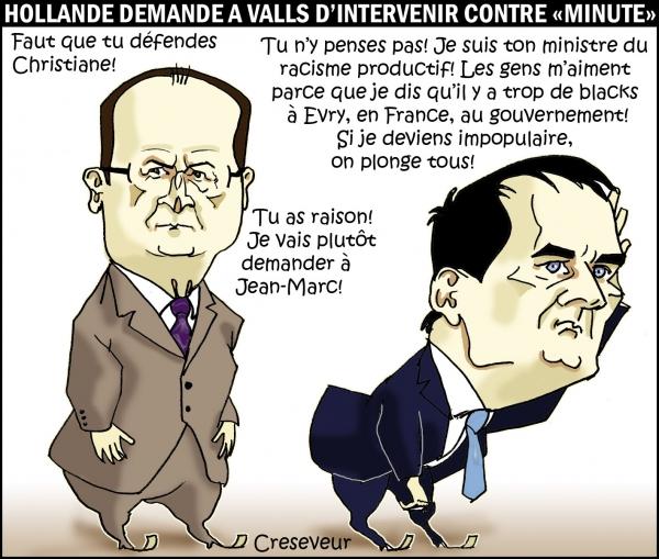 Hollande et Valls défendent Taubira.JPG