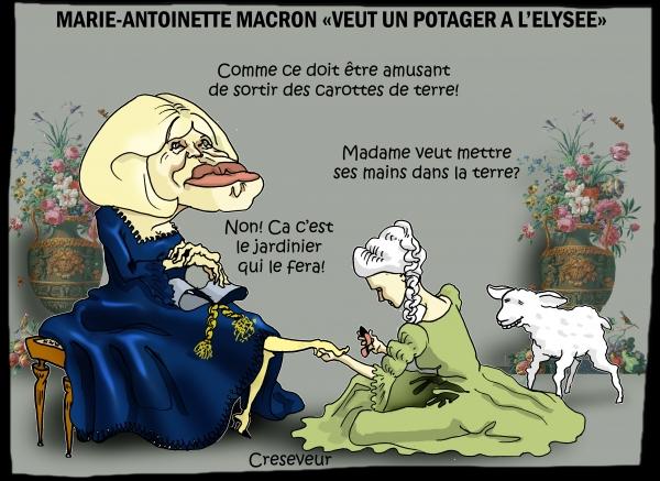 Brigitte Macron veut un potager.JPG