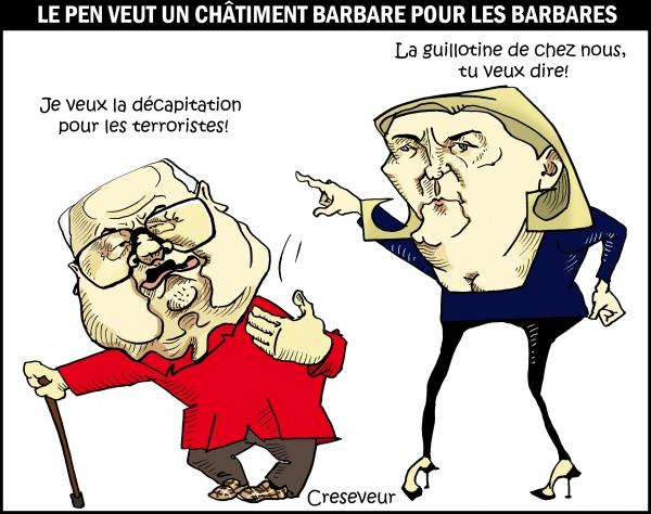 Le Pen veut décapiter les terroristes.JPG