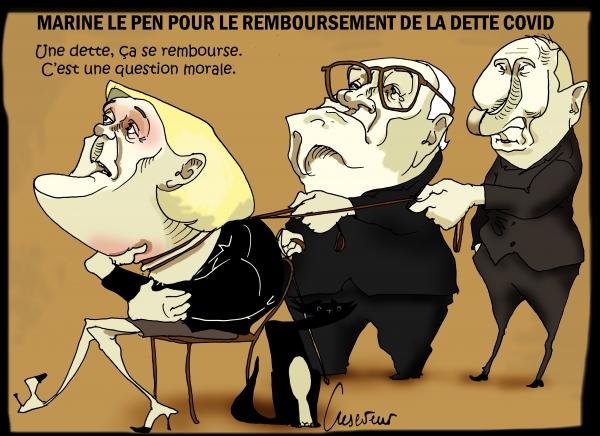 Le Pen pour rembourser la dette covid.JPG