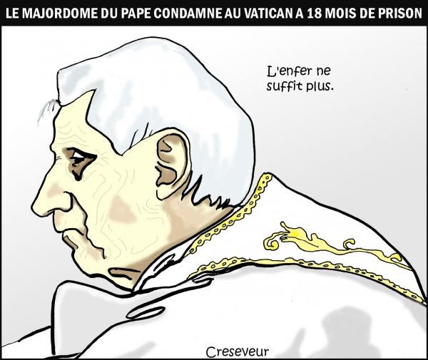 Le pape condamne son majordome.jpg