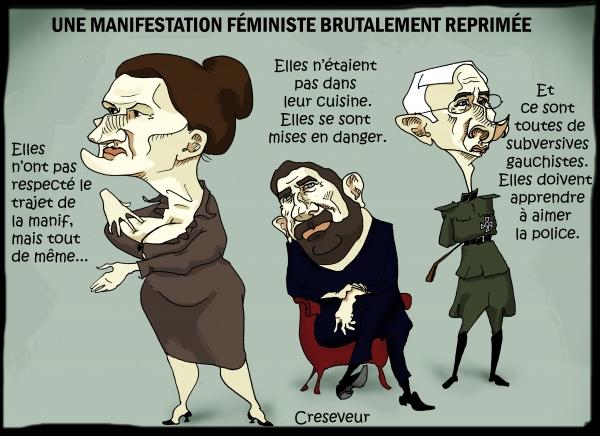 Une manif féministe brutalement réprimée.JPG