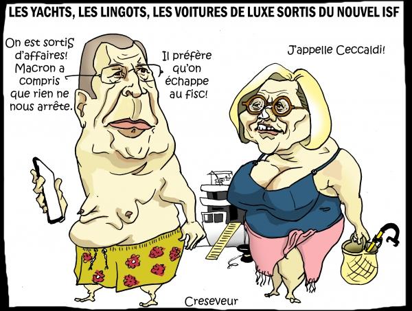 Macron récompense les riches antisociaux.JPG