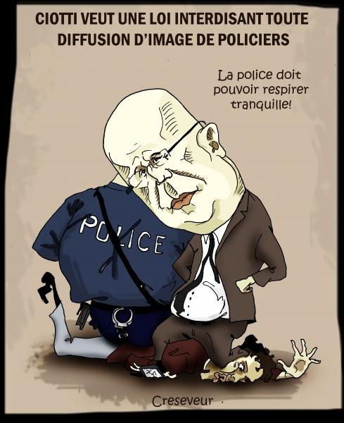 Ciotti veut interdire la prise de vue de policiers.JPG
