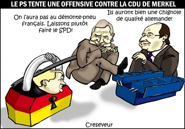 Le PS attaque Merkel .JPG