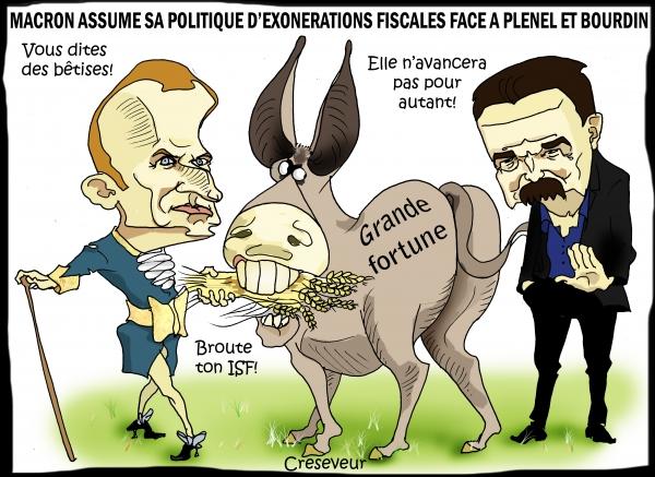 Macron assume sa politique pour les riches sur BFM.JPG