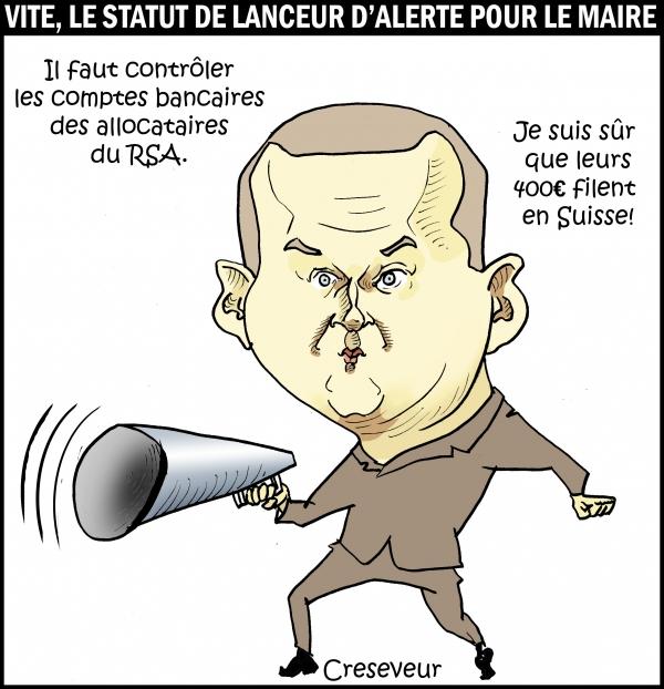 bruno le maire, fraude au rsa, scandale financier, deltour, luxleaks, swissleaks, dessin de presse, caricature