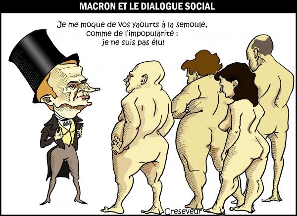 Macron et le dialogue social.JPG