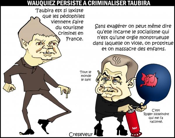Wauquiez criminalise Taubira.JPG