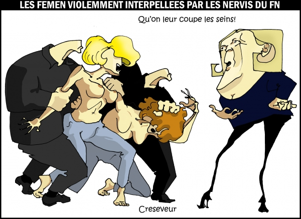 Les nervis du FN violentent les femen.JPG