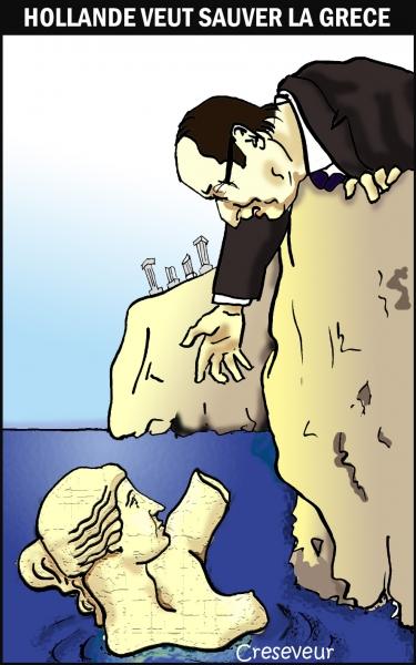 Hollande secourre la Grèce.jpg