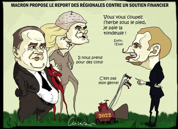 Macron tente de tondre ses concurrents.JPG