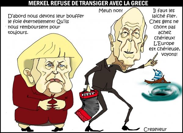 Merkel ne veut pas transiger avec la Grèce.jpg