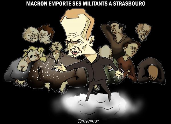 Macron fait la campagne du marchand de sable.JPG