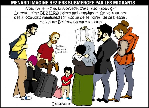 Ménard affolé par les migrants.jpg