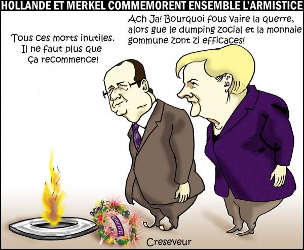 Hollande et Merkel commémorent le 11.11.JPG