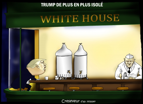 Trump de plus en plus isolé.JPG