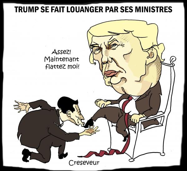 Trump se fait louanger par ses ministres.JPG