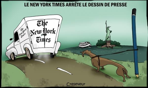 Le NYT arrête le dessin de presse.JPG