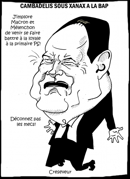 cambadélis,antidépresseurs,macron,mélenchon,la belle alliance populaire,ps,présidentielles 2017,dessin de presse,caricature