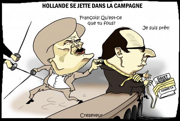 Hollande se jette dans la campagne.JPG