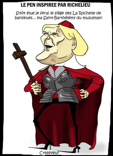 Marine Le Pen se prend pour Richelieu.JPG