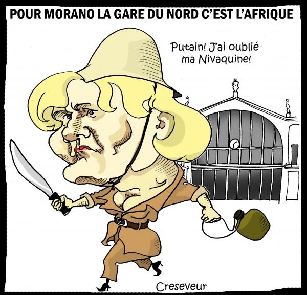 Morano voit l'Afrique à Gare du Nord.JPG