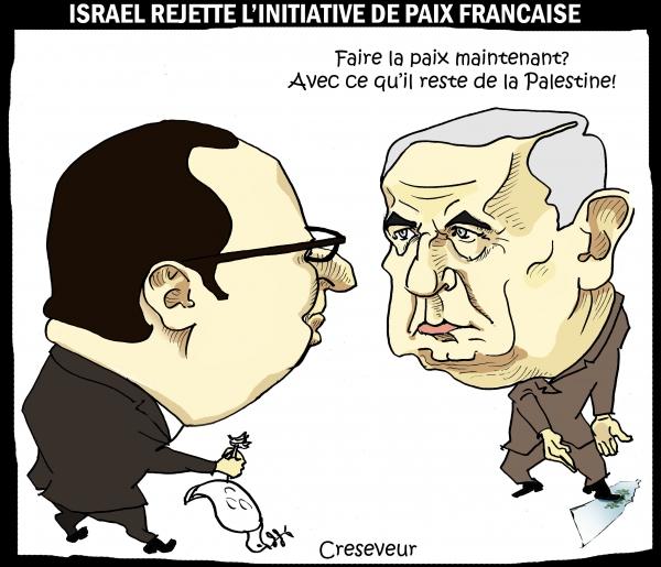 Israël rejette l'initiative de paix française.JPG