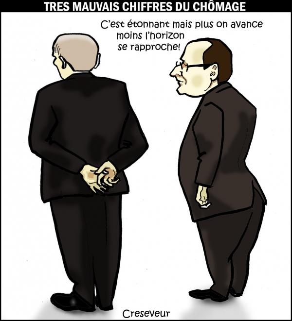 Hollande et le chômage  .JPG