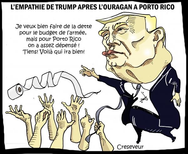 Trump tout en empathie à Porto Rico.JPG