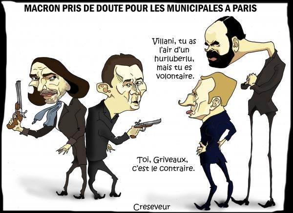 Macron doute pour la Mairie de Paris.JPG